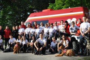 Zaprowiedź ćwiczeń organizowanych przez Komende Powiatową Państwowej Straży Pożarnej w Policach i OSP Wołczowo.