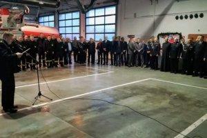 Spotkanie wigilijne Komendy Powiatowej PSP w Policach