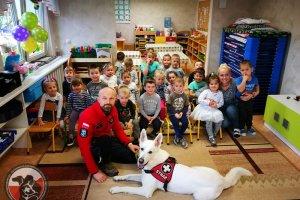 Wizyta w przedszkolu Calineczka w Policach.