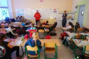 """Projekt """"Pies przyjaciel dziecka"""" w Szkole Podstawowej nr 37 w Szczecinie."""