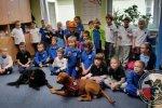 """Realizacja projektu """"Pies przyjaciel dziecka"""" 09.11.2016, działania edukacyjne."""