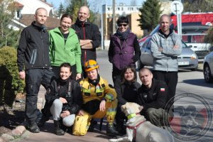 Egzaminy psów ratowniczych Gdańsk 2015 - kolejne 4 licencje klasy 1 dla OSP Wołczkowo